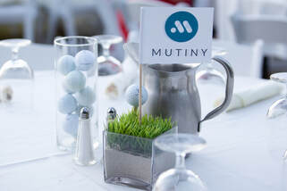 Picture of Golf Themed Centerpiece for the Mutiny Golf Scramble by Donna Coleman Photography