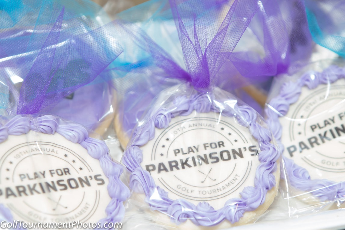 Picture of personalized cookies for the play for Parkinson's charity golf tournament by Donna Coleman Photography
